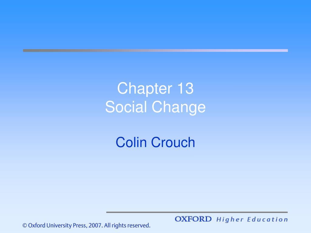 chapter 13 social change l.
