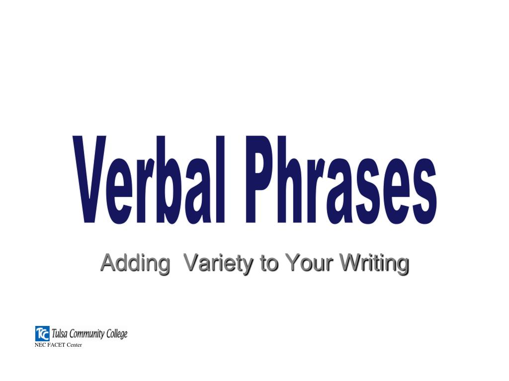 adding variety to your writing l.