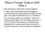 effect of foreign trade on gdp slide 4