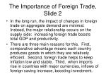 the importance of foreign trade slide 2