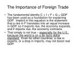 the importance of foreign trade
