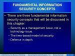 fundamental information security concepts