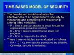 time based model of security