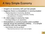 a very simple economy