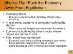 shocks that push the economy away from equilibrium