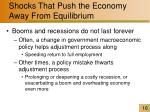 shocks that push the economy away from equilibrium16