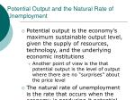 potential output and the natural rate of unemployment