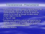 transference phenomena