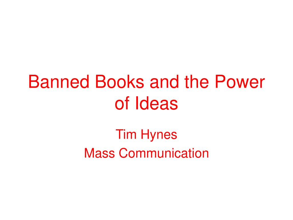 banned books and the power of ideas l.