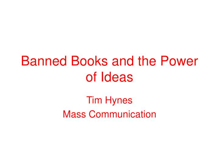 banned books and the power of ideas n.