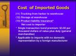cost of imported goods3