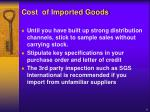 cost of imported goods6