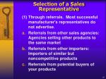 s election of a sales representative