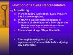 s election of a sales representative11