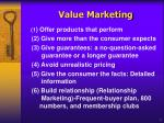 value marketing