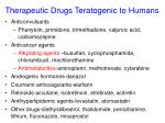 therapeutic drugs teratogenic to humans