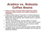 arabica vs robusta coffee beans