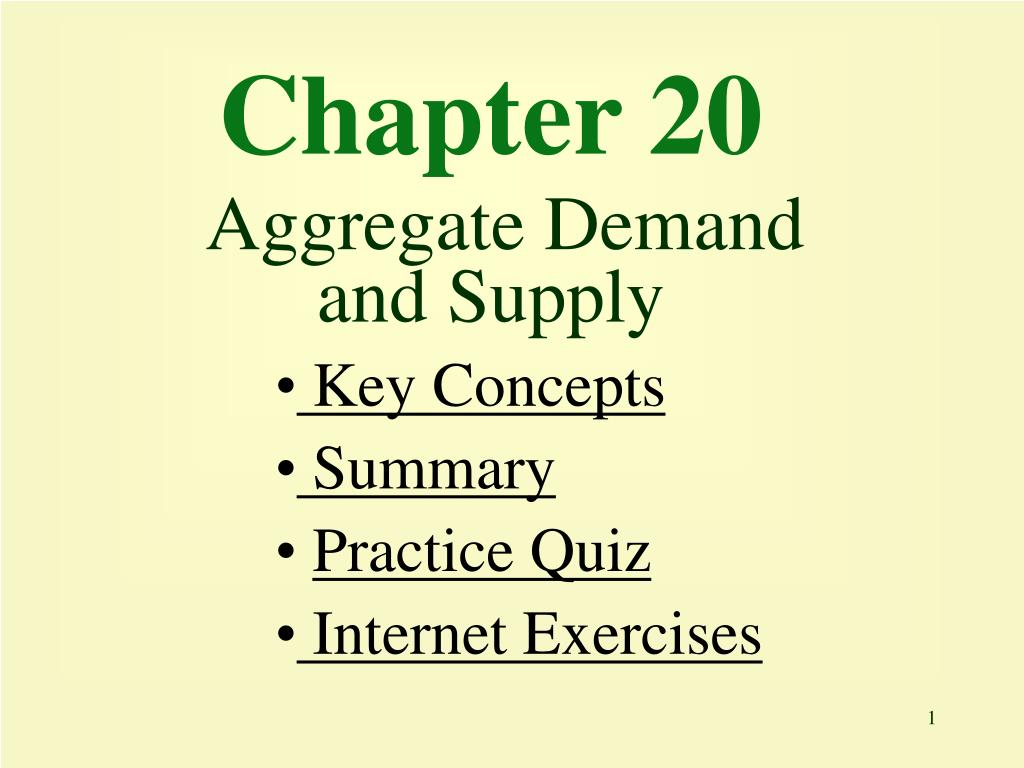 chapter 20 aggregate demand and supply l.
