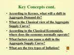 key concepts cont