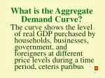 what is the aggregate demand curve