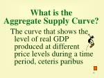 what is the aggregate supply curve