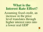 what is the interest rate effect