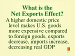 what is the net exports effect
