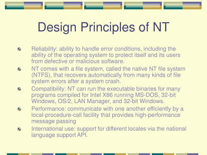 linux versus windows nt Basically linux brought the security into itself by duplicating what unix had   this tends to make nt very prone to attacks and less defensive.