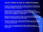 major trends of rise of competitiveness19