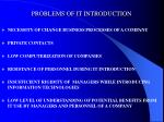 problems of it introduction
