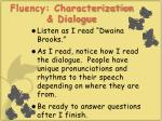 fluency characterization dialogue