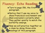 fluency echo reading