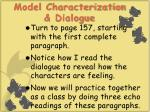model characterization dialogue