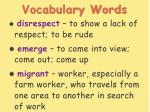 vocabulary words20