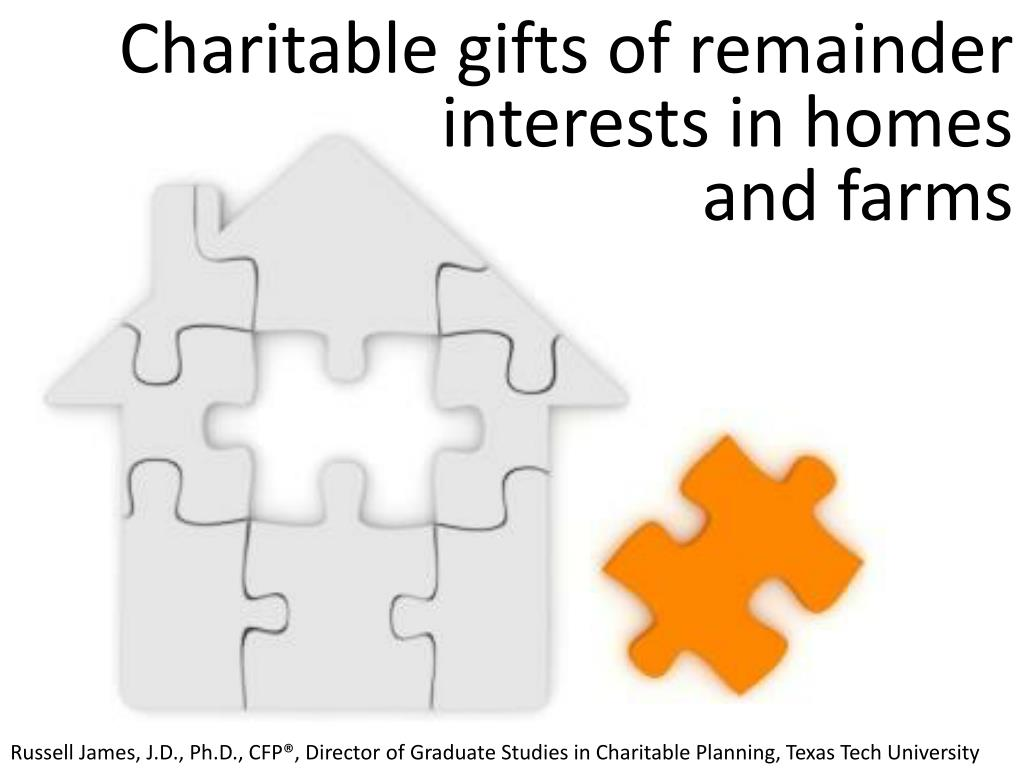 charitable gifts of remainder interests in homes and farms l.