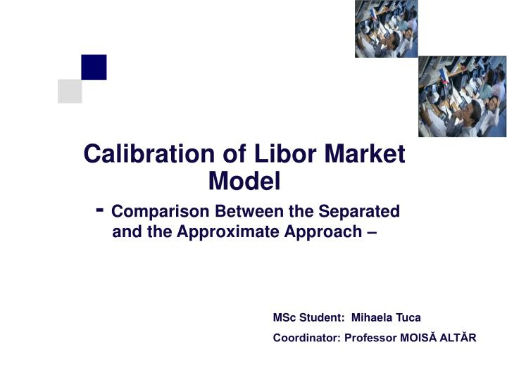 Calibration of libor market model comparison between the separated and the approximate approach