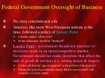 federal government oversight of business