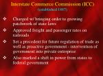 interstate commerce commission icc established 1887