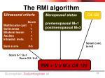 the rmi algorithm