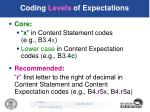 coding levels of expectations28