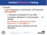 content statement coding22