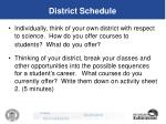 district schedule36