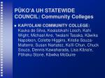 p ko a uh statewide council community colleges43