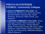 p ko a uh statewide council community colleges44