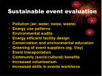 sustainable event evaluation