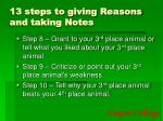 13 steps to giving reasons and taking notes2