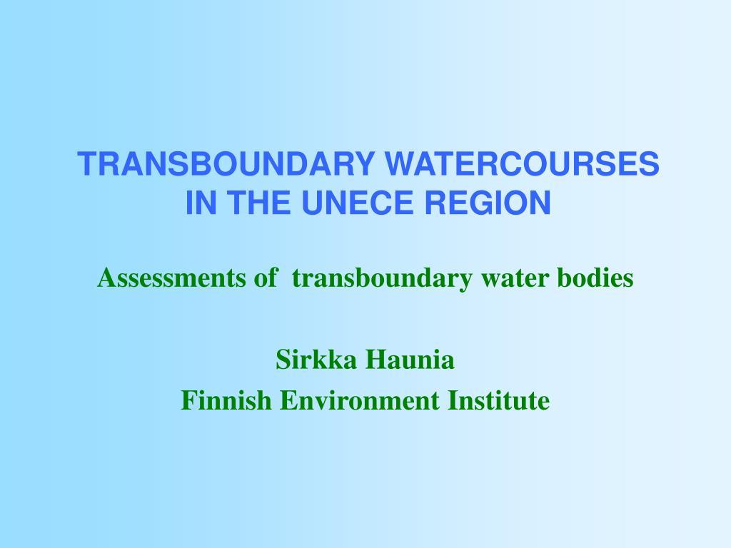 transboundary watercourses in the unece region l.