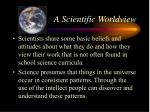 a scientific worldview