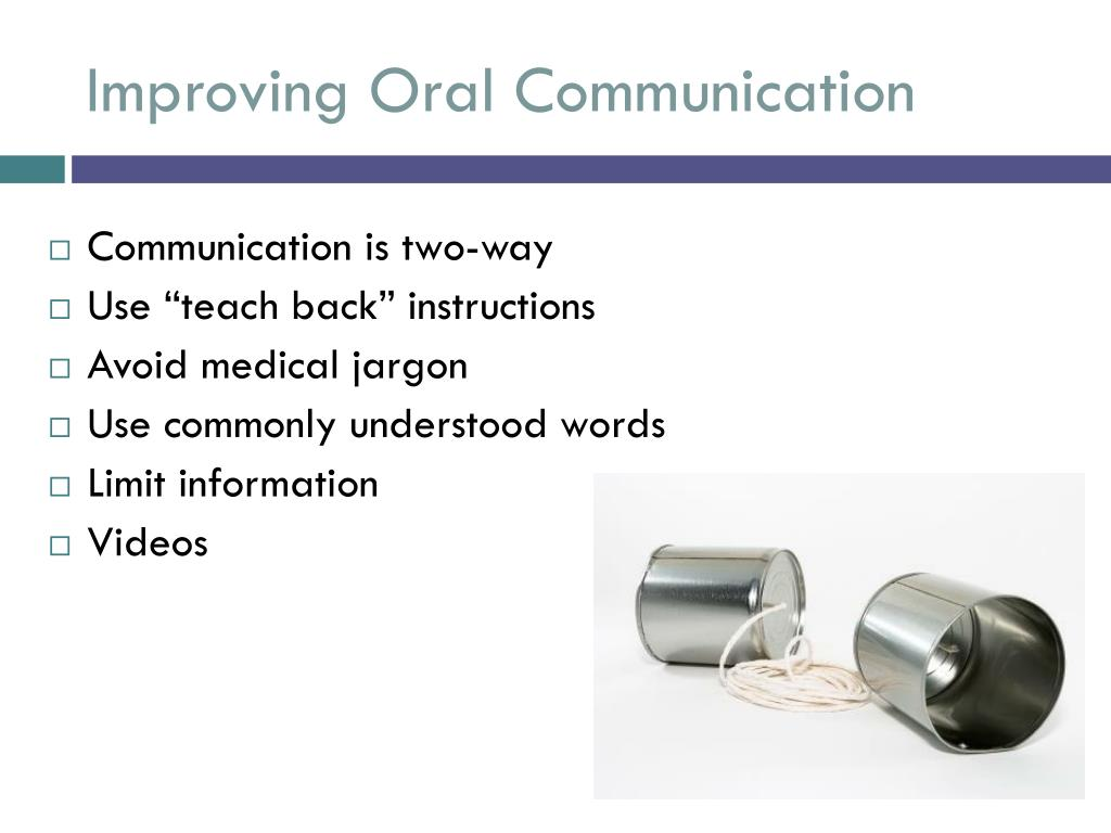 Improving Oral Communication