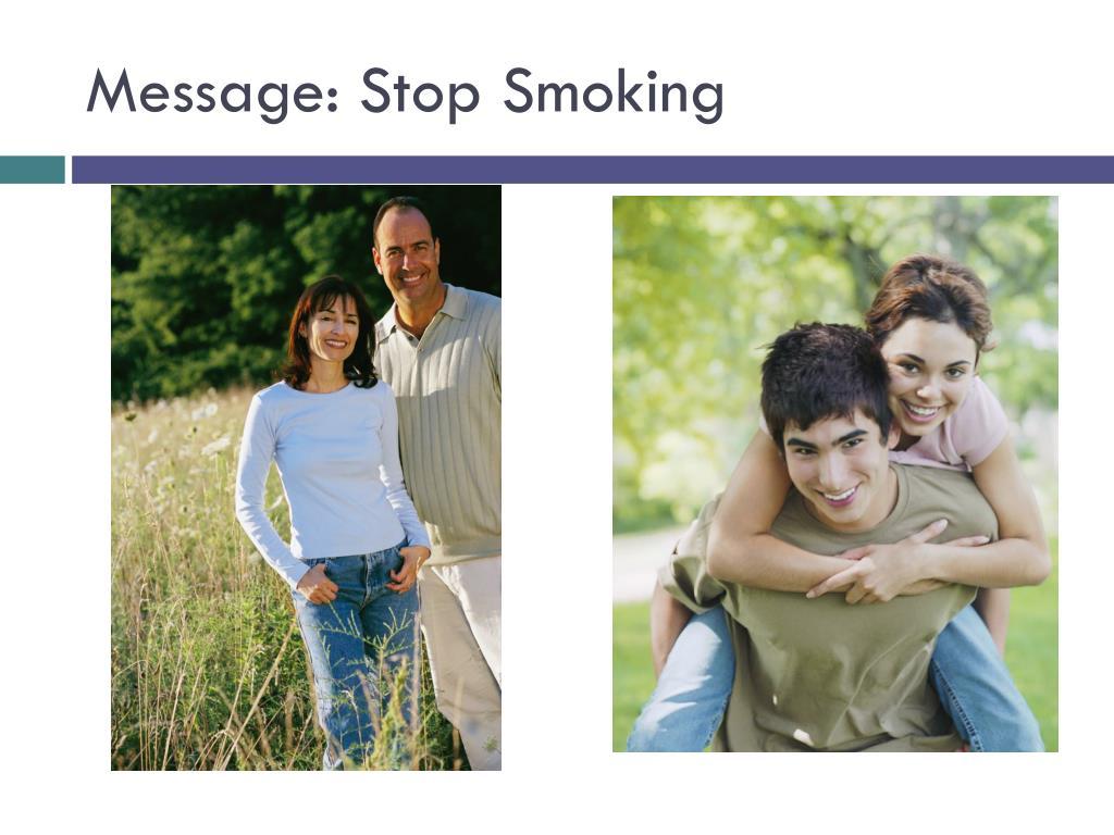 Message: Stop Smoking